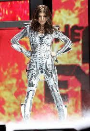 silver space suit